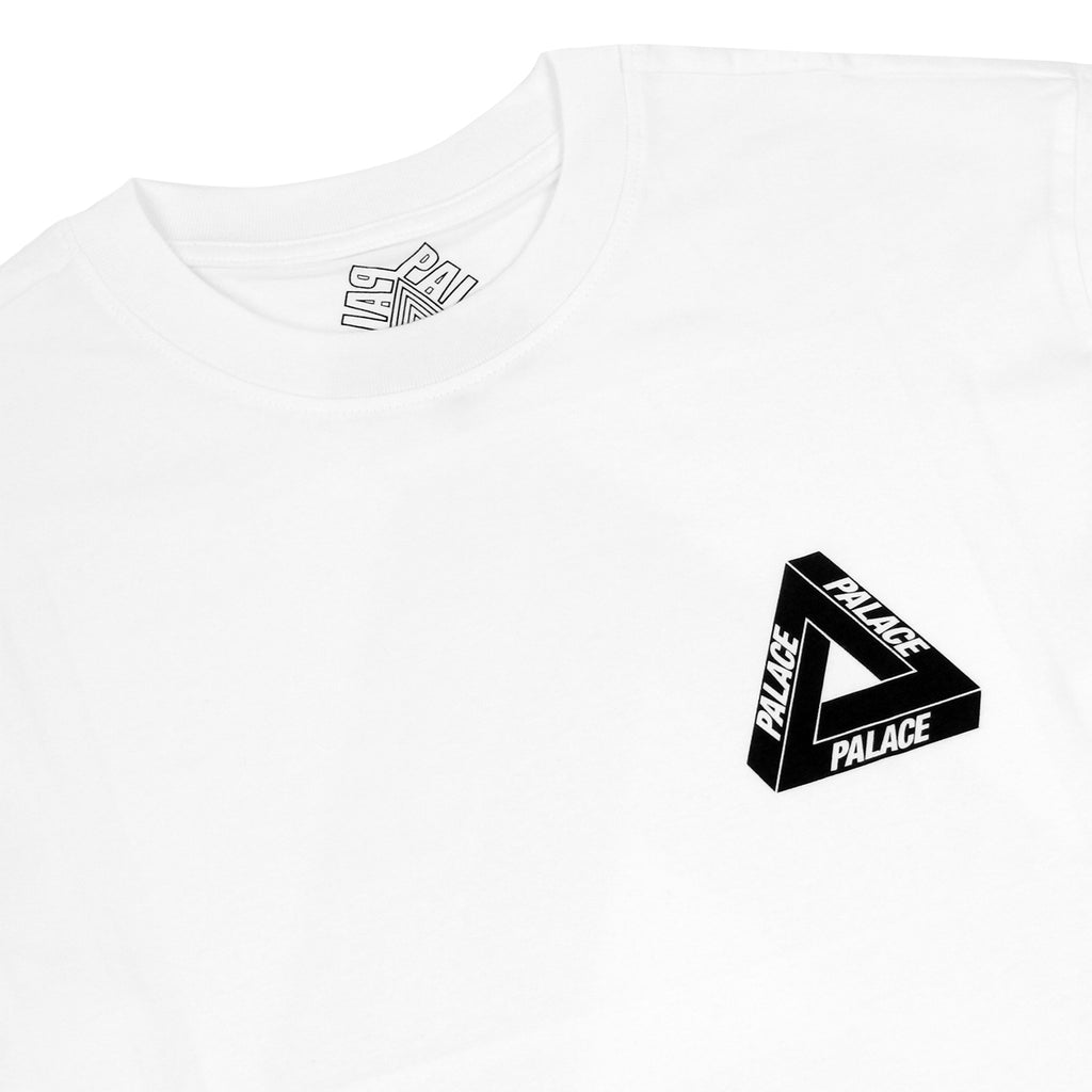 Palace Drury Italia L/S T Shirt in White - Detail