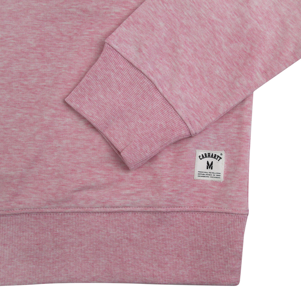 Carhartt Holbrook LT Sweatshirt in Vegas Pink Heather - Cuff