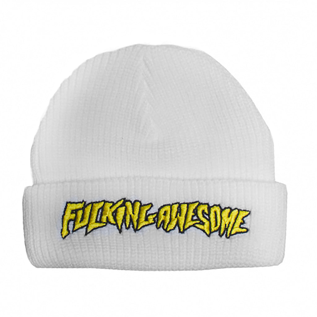 Fucking Awesome Beanie in White