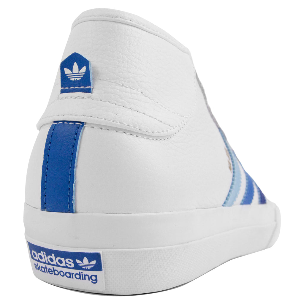 Adidas Matchcourt Mid Na-Kel Smith Shoes in White / Collegiate Royal / Bluebird - Heel