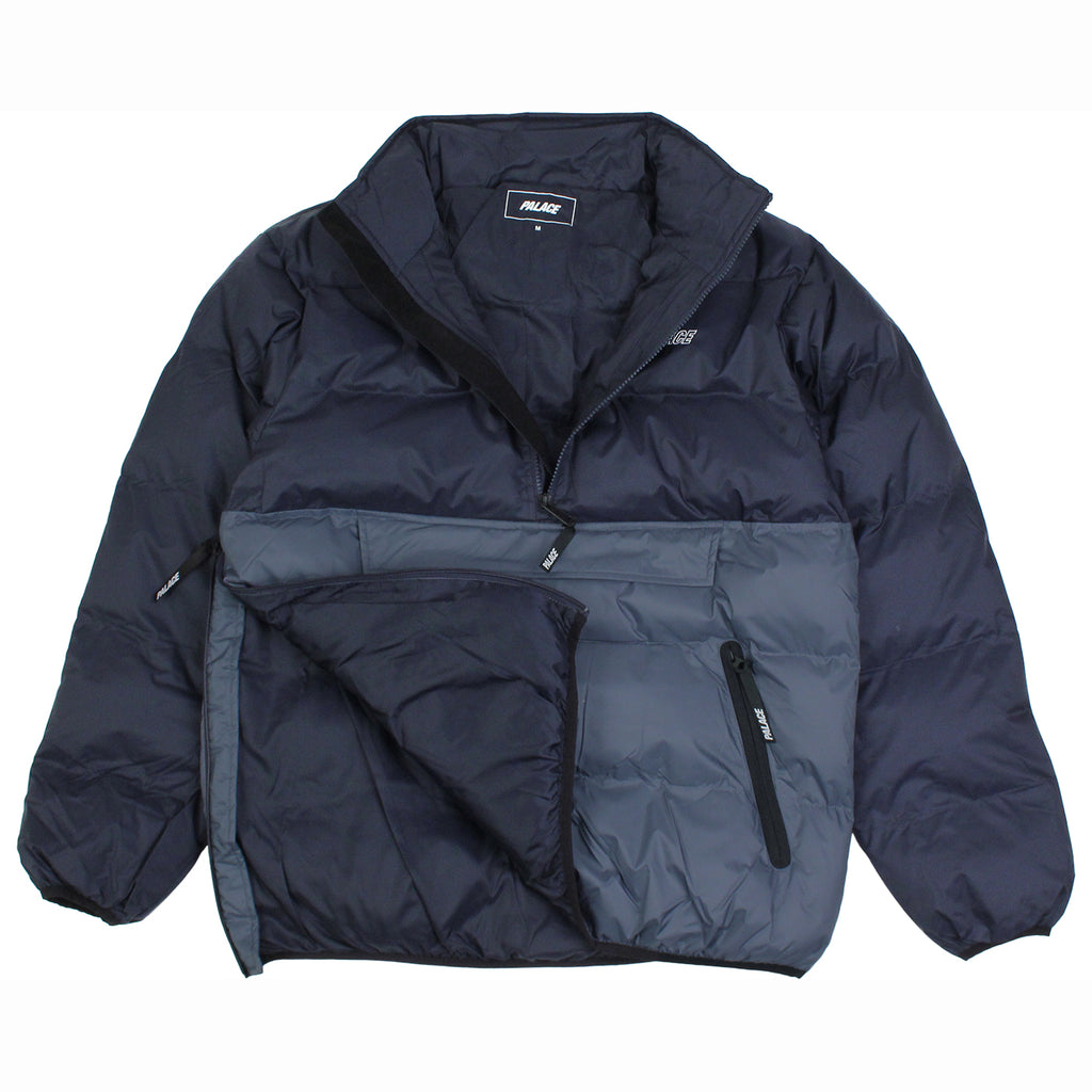Palace Puffa Jacket in Blue Nights / Flinstone - Detail 2
