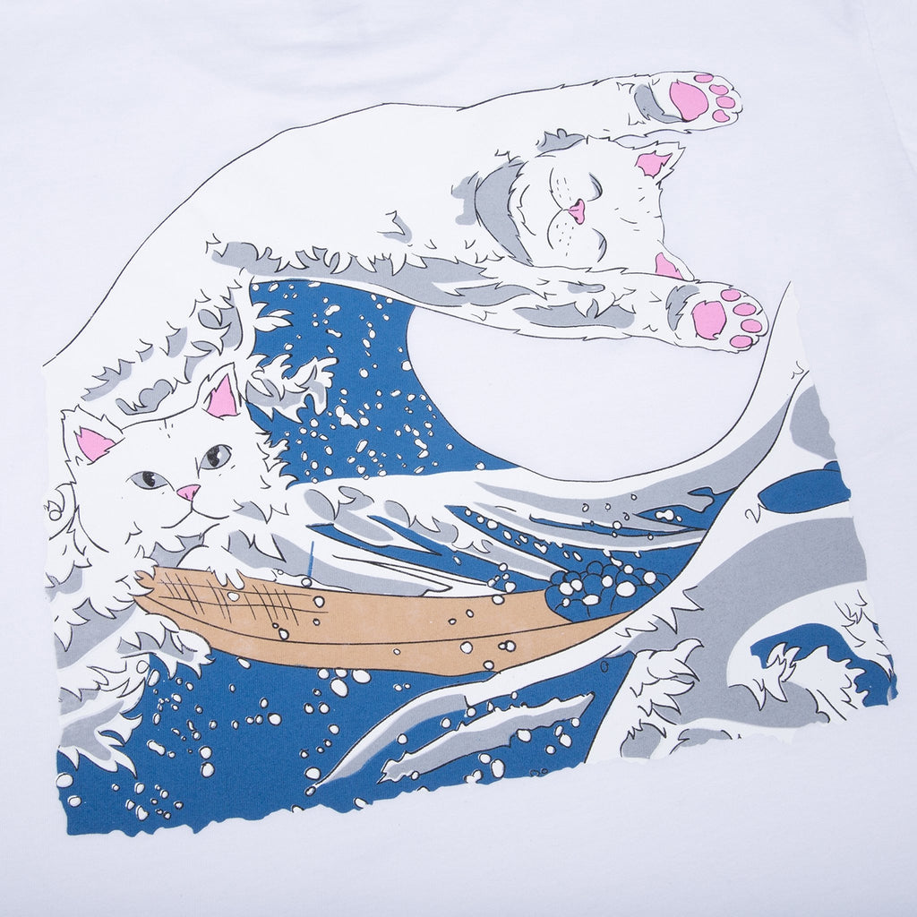 RIPNDIP Great Wave T Shirt in White - Print