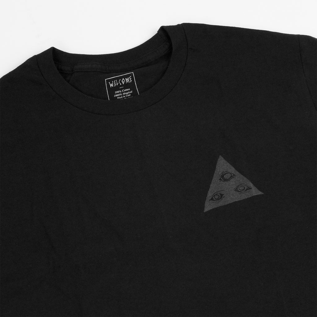 Welcome Skateboards Talisman T Shirt in Black / Glow - Detail