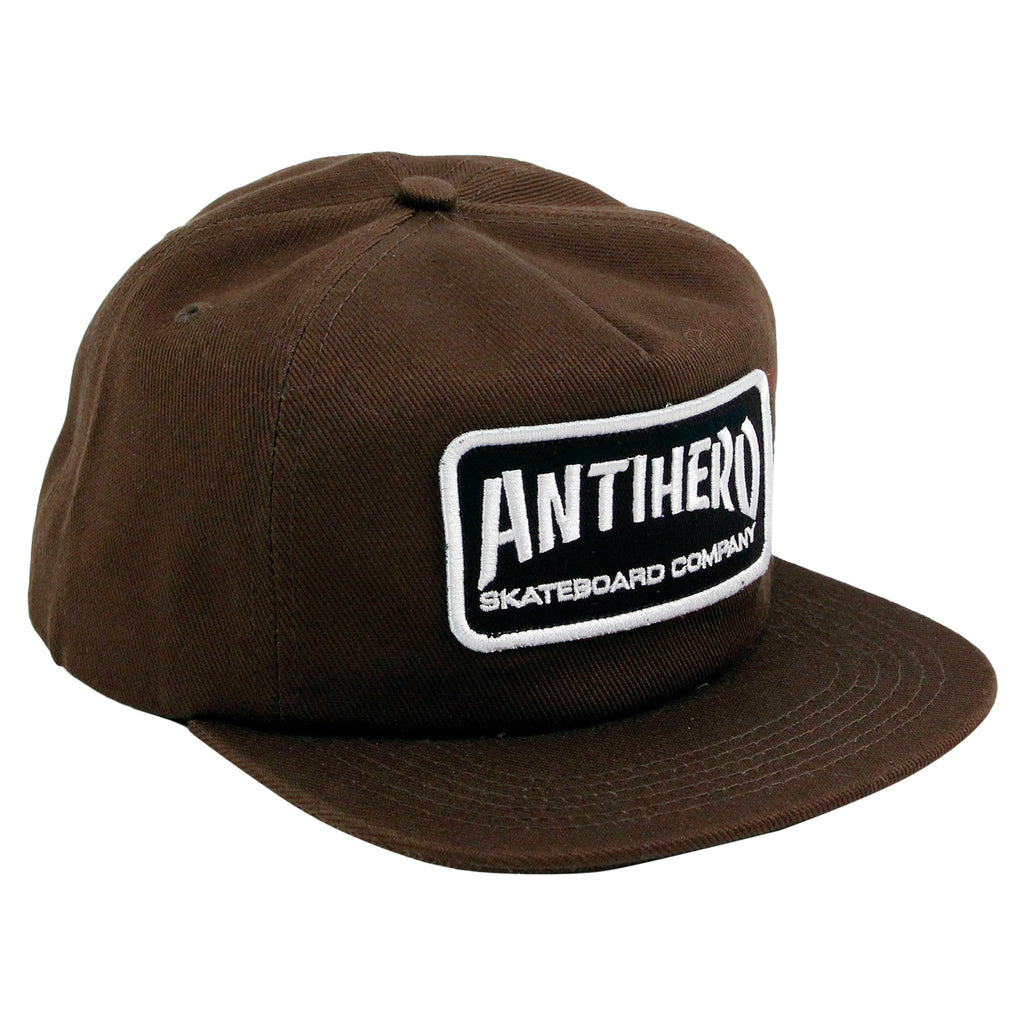 Anti Hero Skateboards Skate Co Patch Snapback Cap in Brown