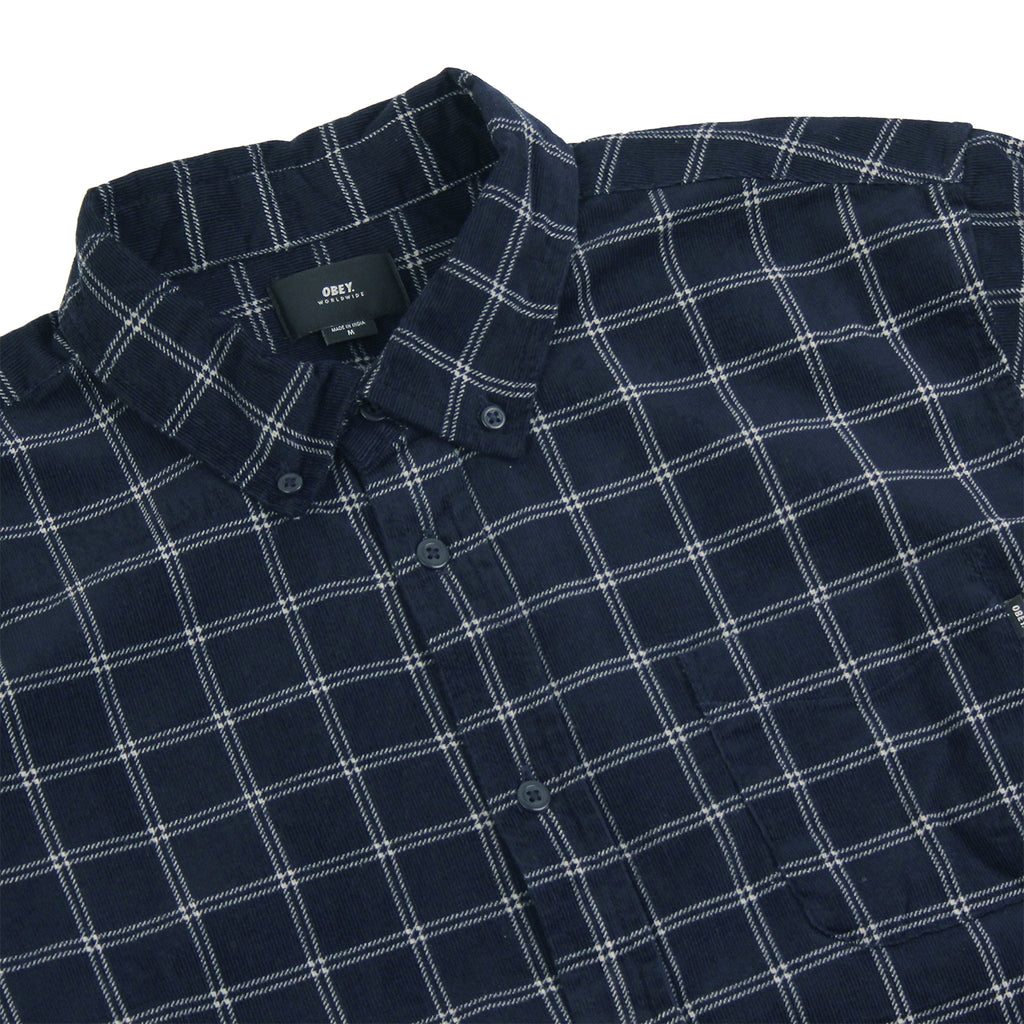 Obey Clothing Halen Woven Shirt in Midnight Multi - Detail