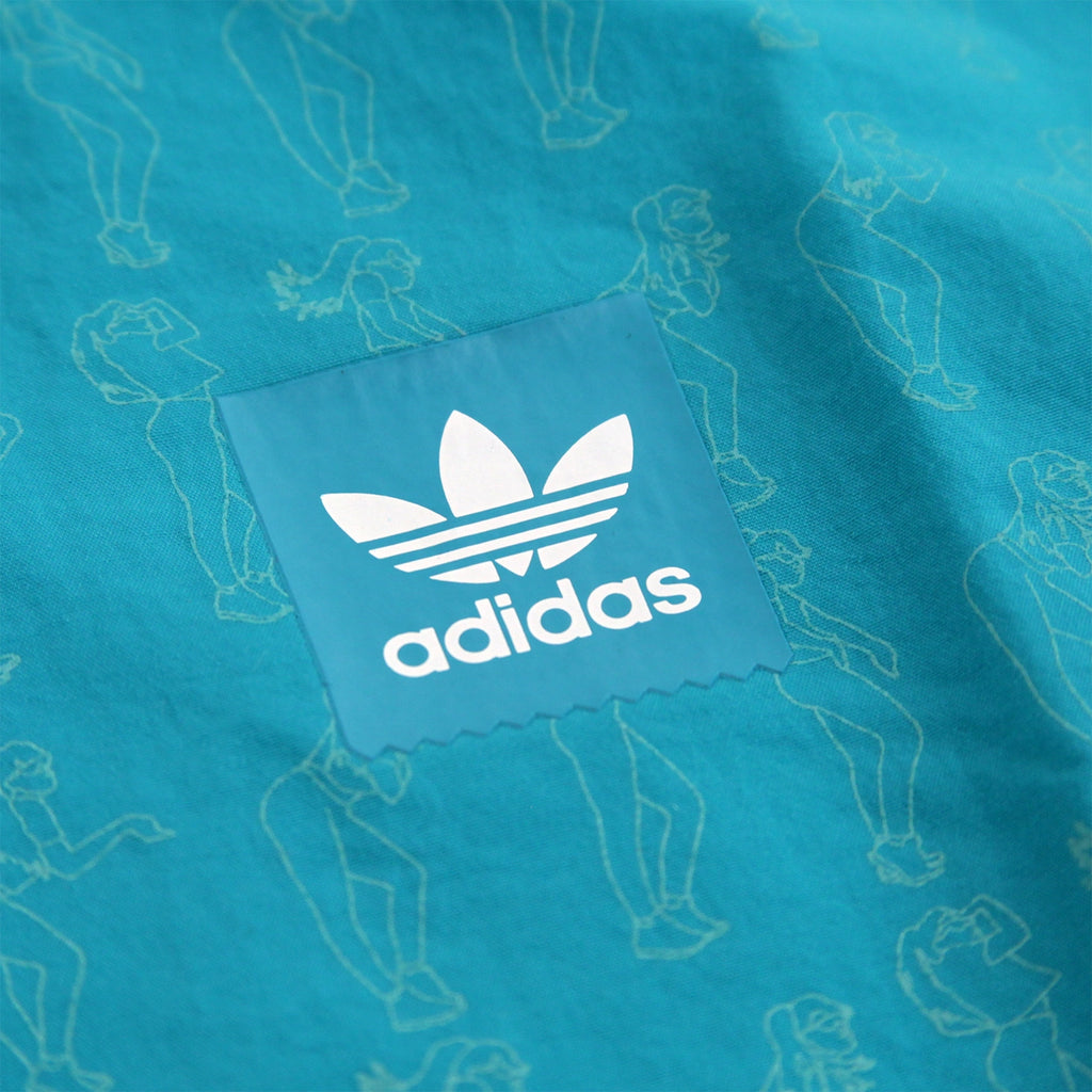Adidas Skateboarding Robin Clare Jacket in Shock Green - Print