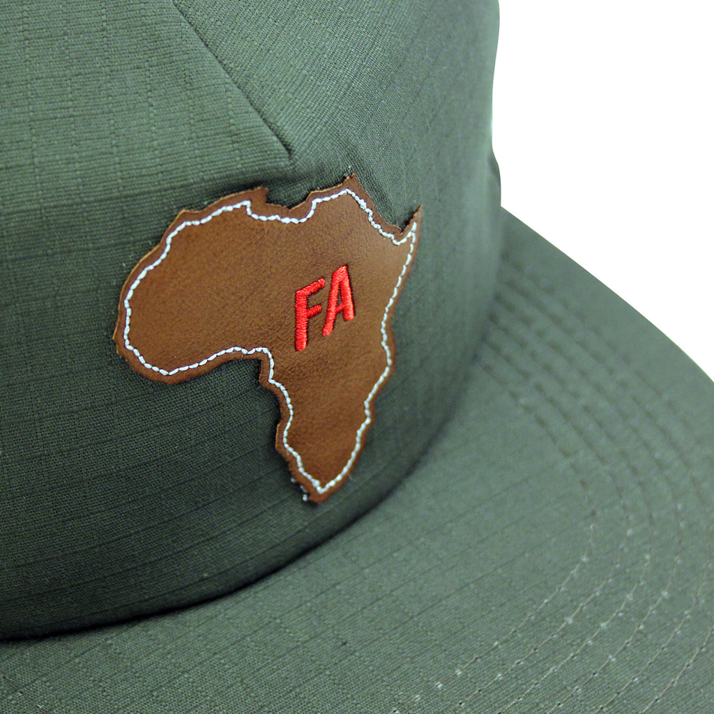 Fucking Awesome Africa Cap in Army - Leather patch