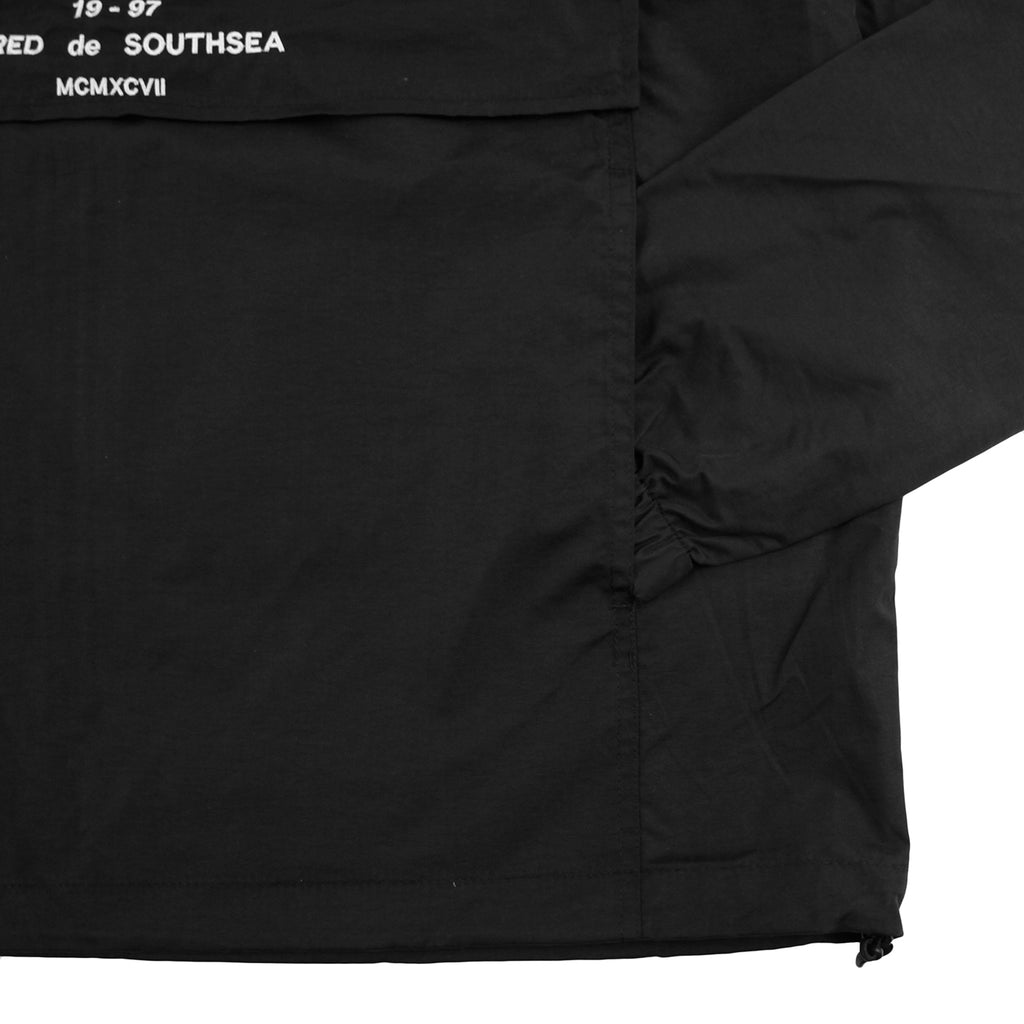 Bored of Southsea BDG Windbreaker Anorak Jacket in Black - Pocket