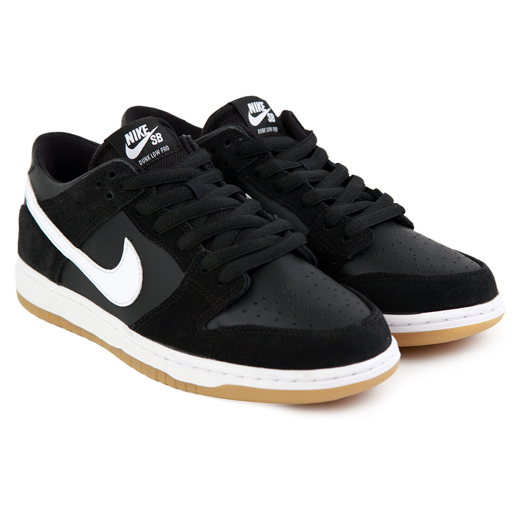 ... 90ba3 619e2 Nike SB Zoom Dunk Low Pro Shoes in Black White-Gum Light  Brown ... 345a68446