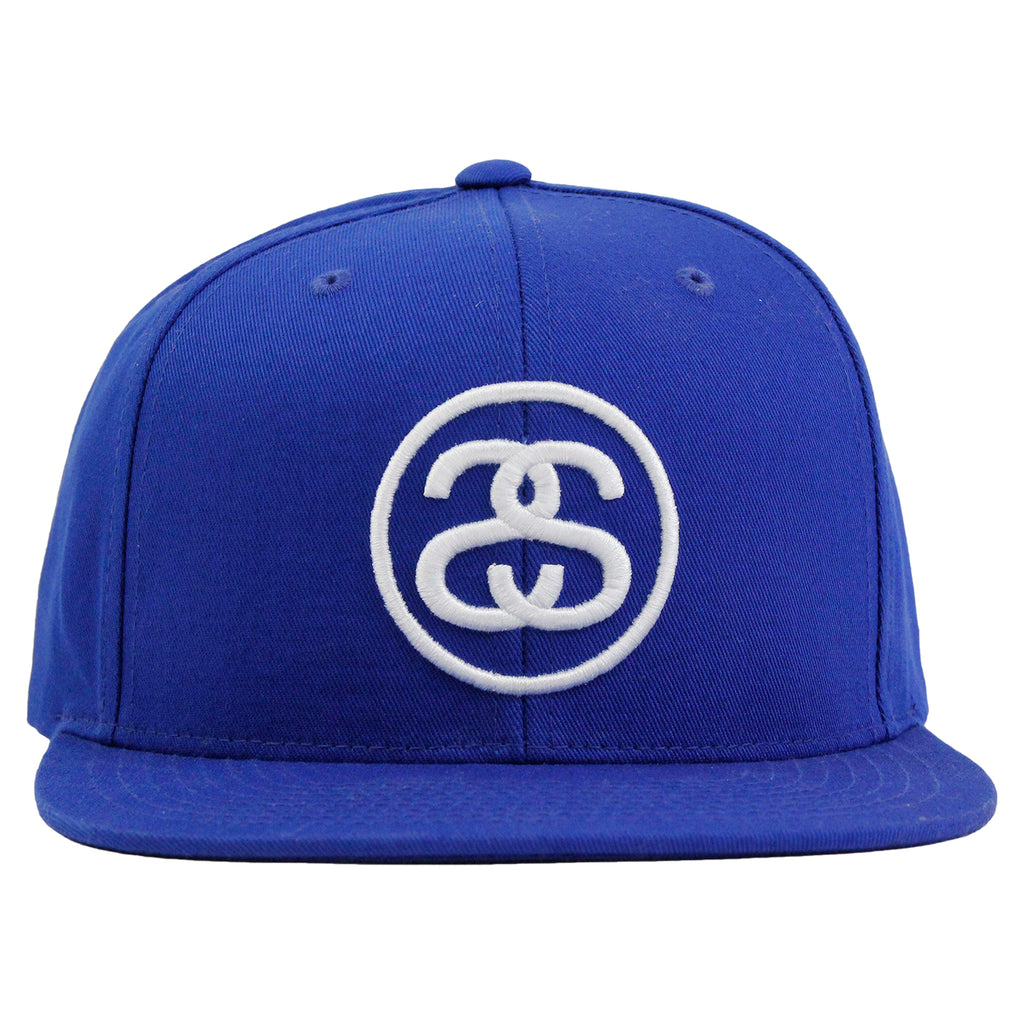 Stussy SS Link Snapback in Royal Blue - Front
