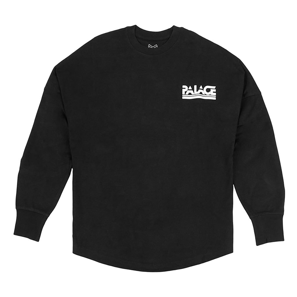 Palace Lightweight Crew Sweatshirt in Black