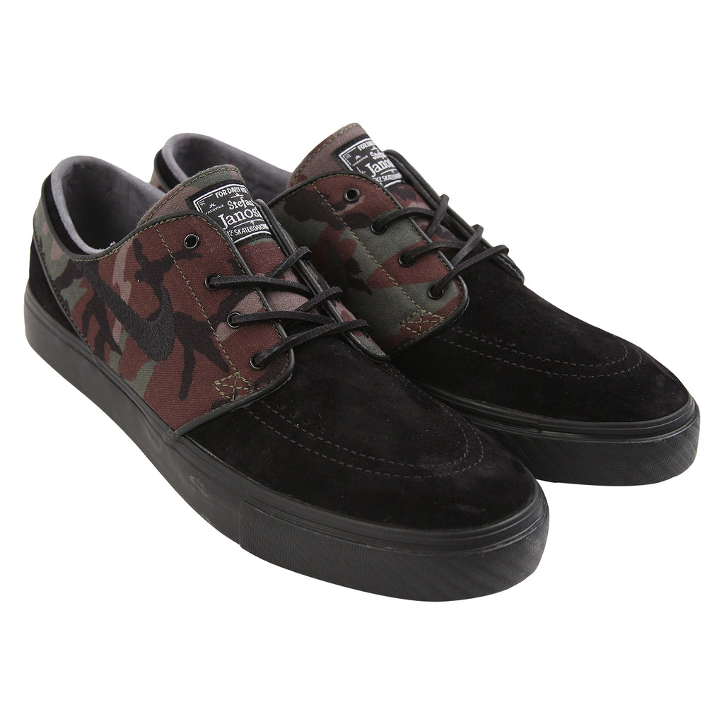 Nike SB Stefan Janoski OG Shoes in Black / Black - Medium Olive - White - Pair