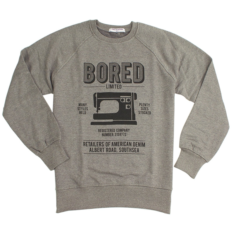 Bored of Southsea Retailers T Shirt in Black on Heather Grey