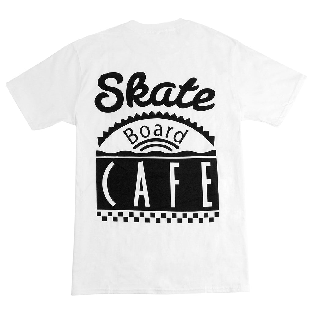 Skateboard Cafe Diner T Shirt in White