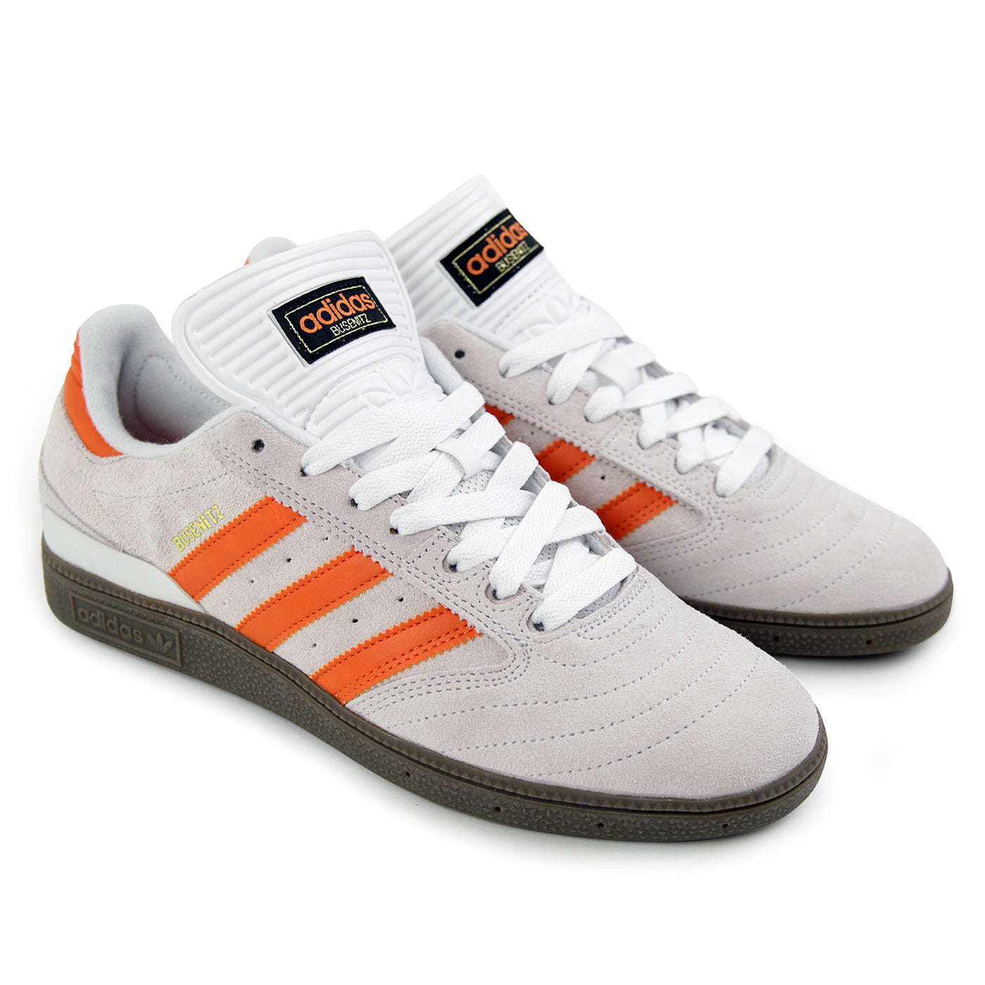 factory authentic 30644 b6d27 Busenitz Shoes in Crystal White  Craft Orange  Gum by Adidas