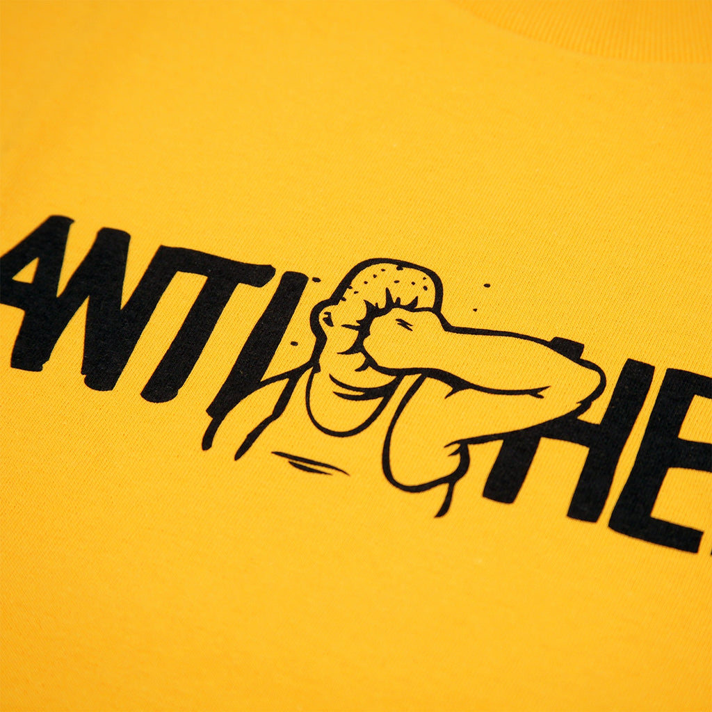 Anti Hero Skateboards Face Punch T Shirt in Gold - Print