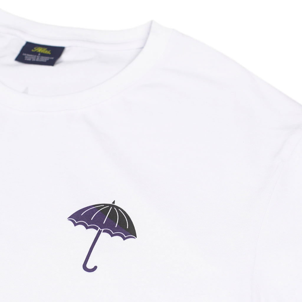 Helas Umbrella T Shirt in White / Navy / Black - Detail