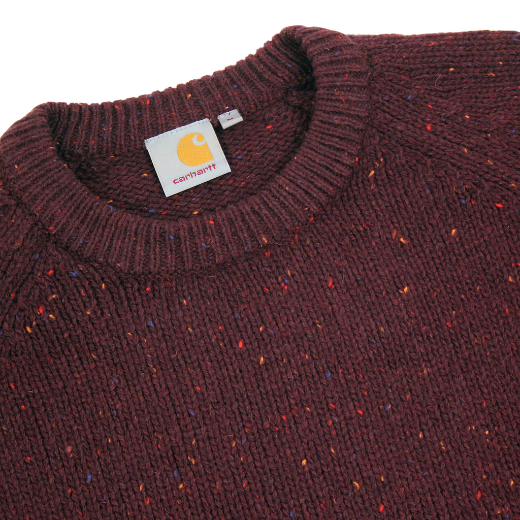 Carhartt Anglistic Sweater in Damson Heather - Detail