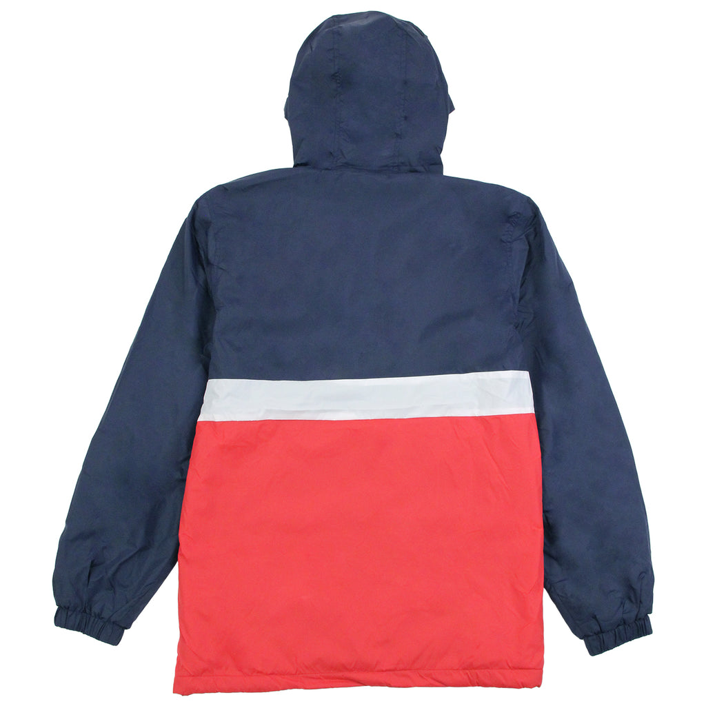 Helas Kanguru Hooded Jacket in Navy / Red - Back