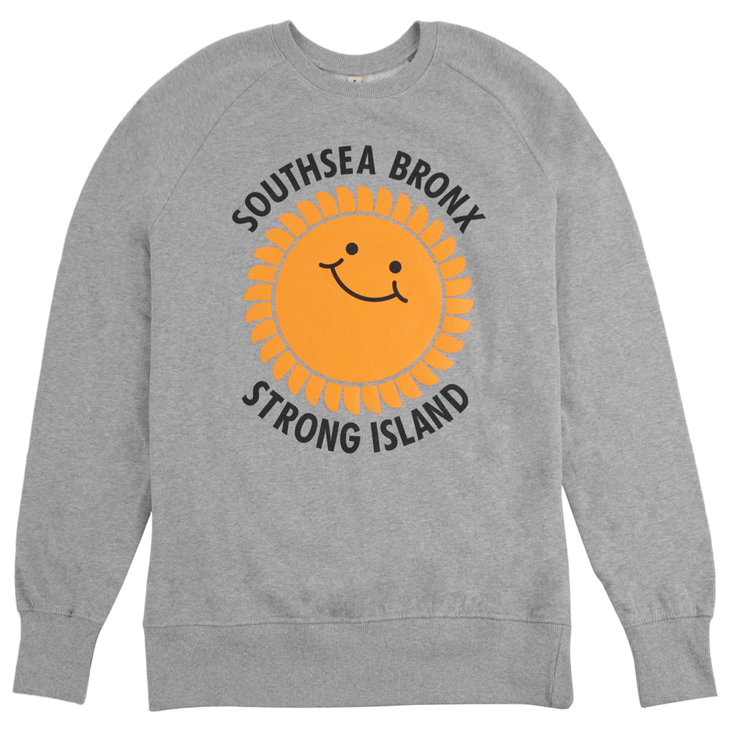 Southsea Bronx Strong Island Sweatshirt in Heather Grey