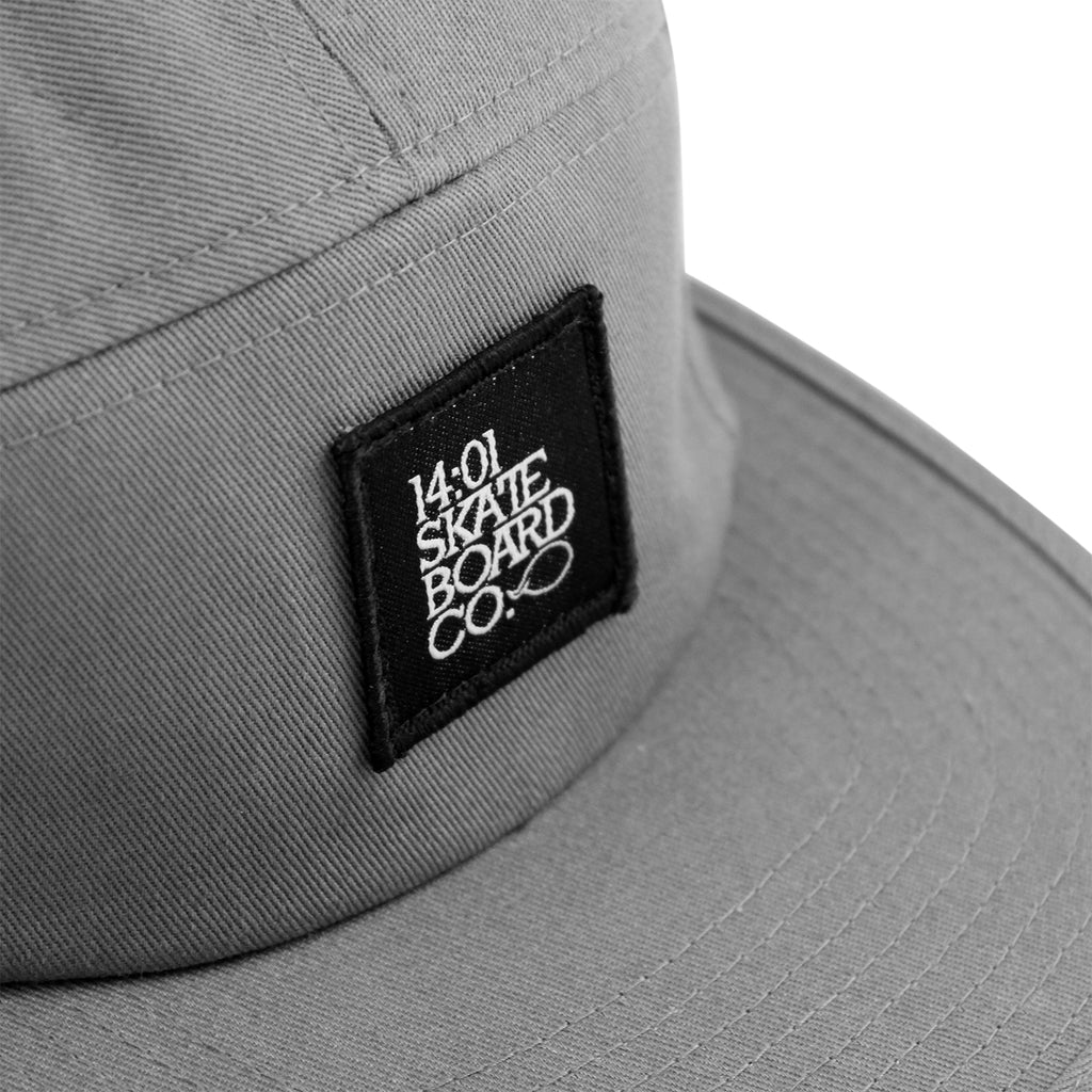 14:01 Skateboard Co BACK2BASICS 5 Panel Cap in Grey - Detail