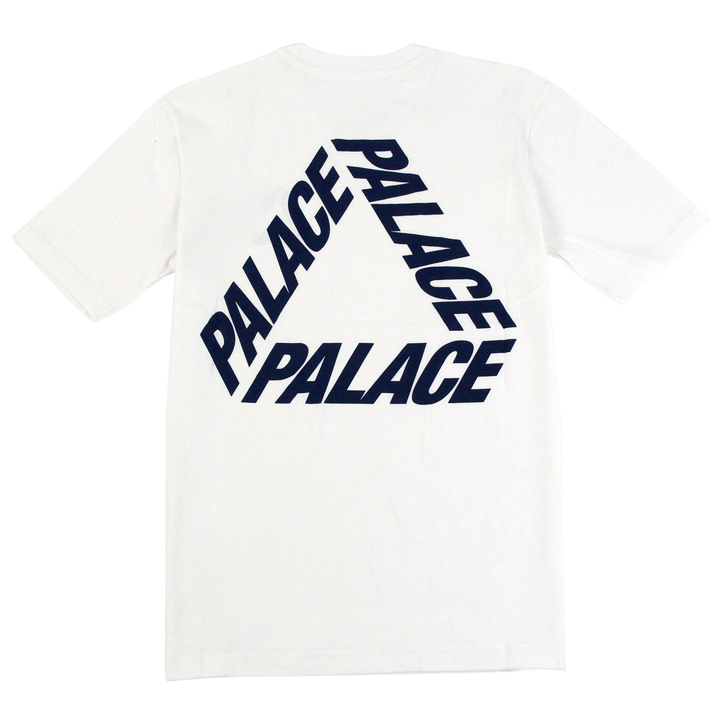 Palace P 3 T Shirt in White / Navy - Back print