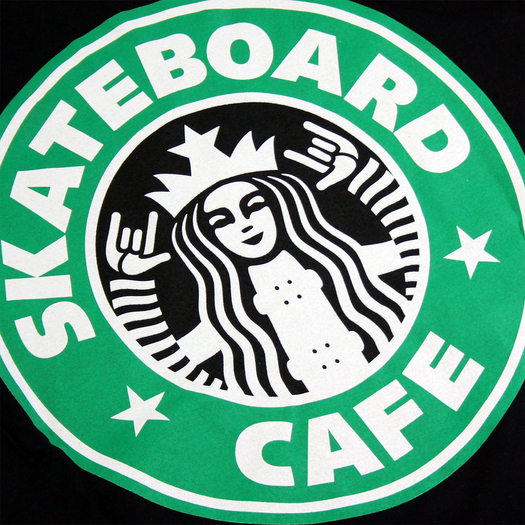 Skateboard Cafe Starfucks T Shirt in Black - Logo