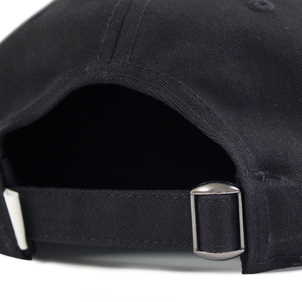 Skateboard Cafe Diner Script Deconstructed 5 Panel Cap in Black - Strap