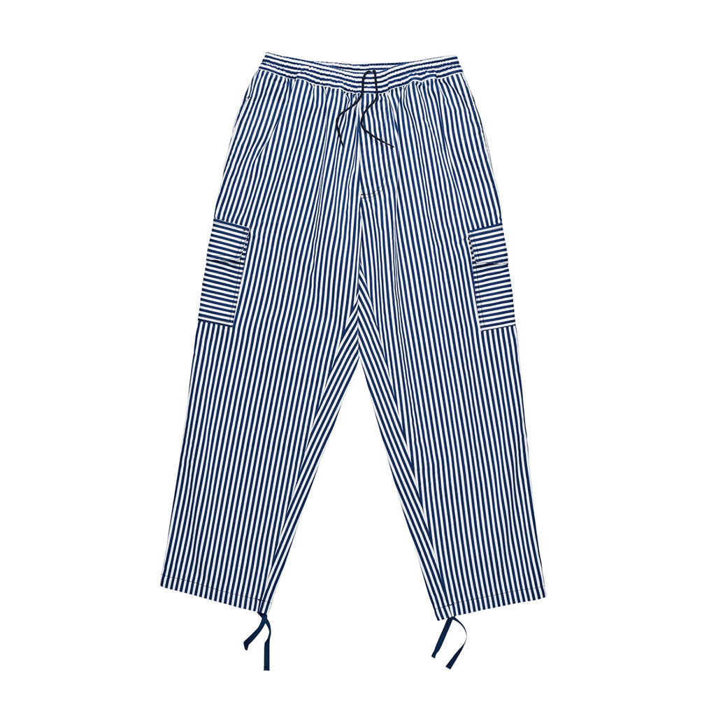 Polar Skate Co Striped Cargo Pants in White / Navy
