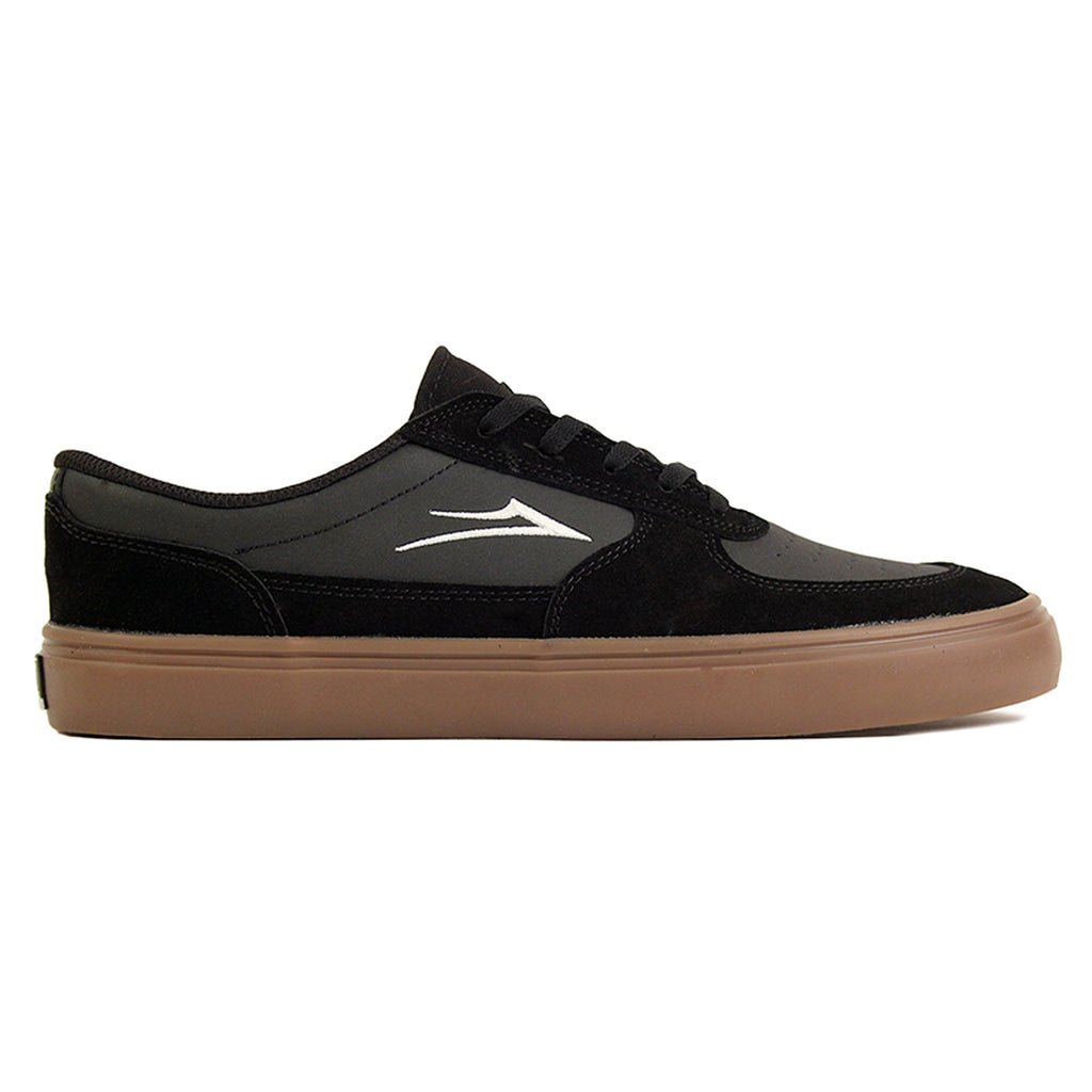 Lakai Parker Shoe in Black/Gum