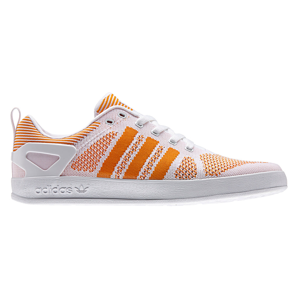 Palace x Adidas Palace Pro Primeknit Shoes in White / Bright Orange / FTWR White