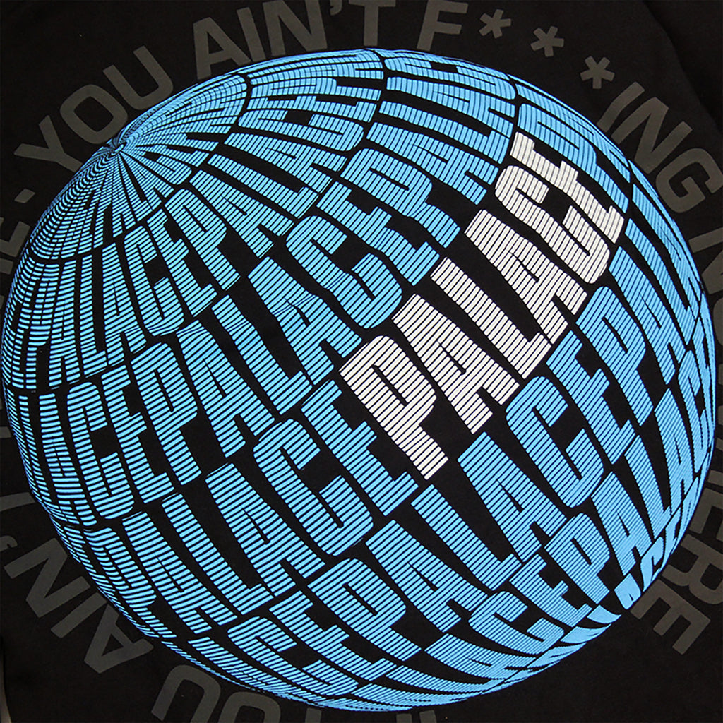 Palace If You Ain't There Hoodie in Black - Print