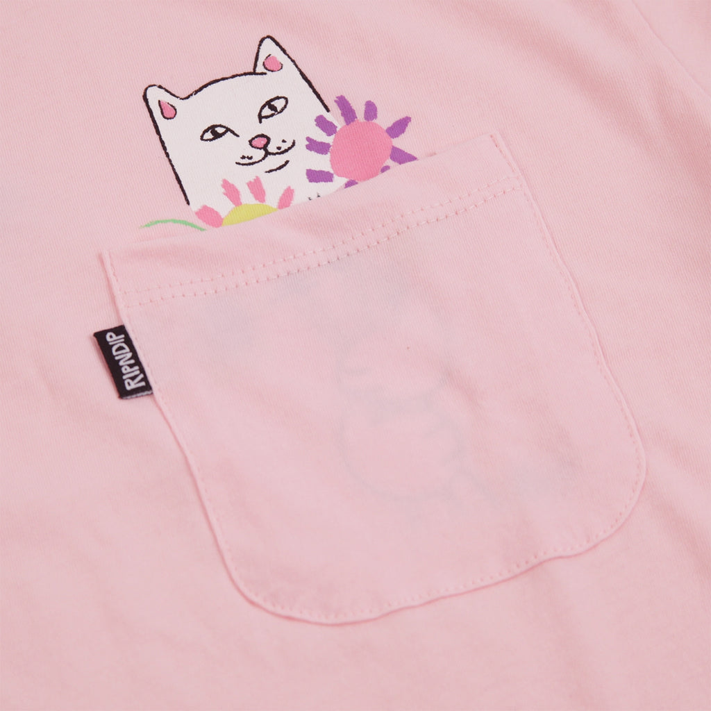 RIPNDIP Nermcasso T Shirt in Pink - Pocket