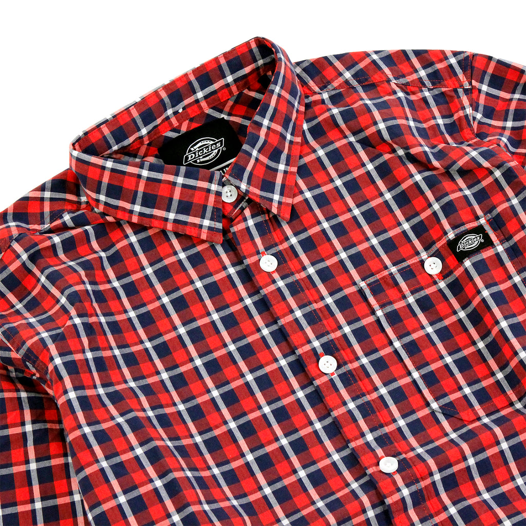 Dickies Laytonville Shirt in Red - Detail