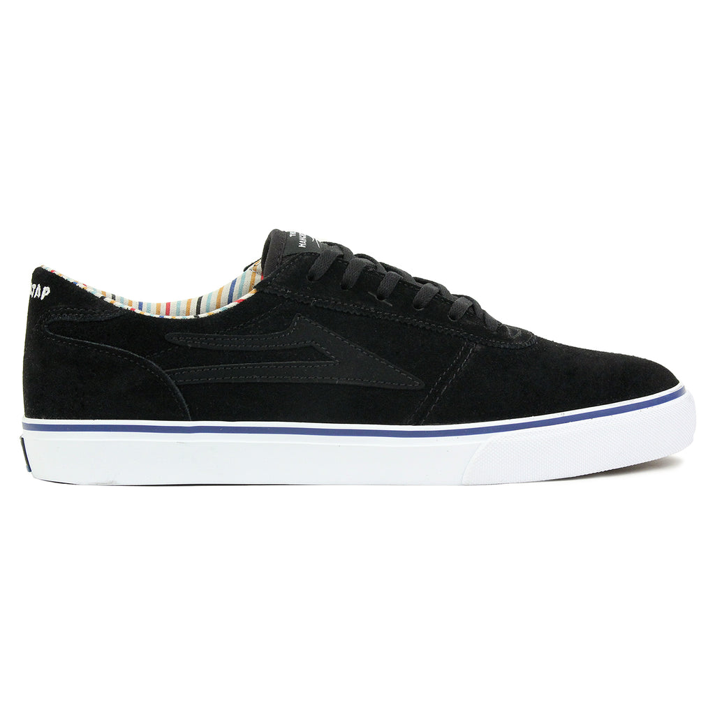 Lakai Manchester Crailtap Suede Shoes in Black/White