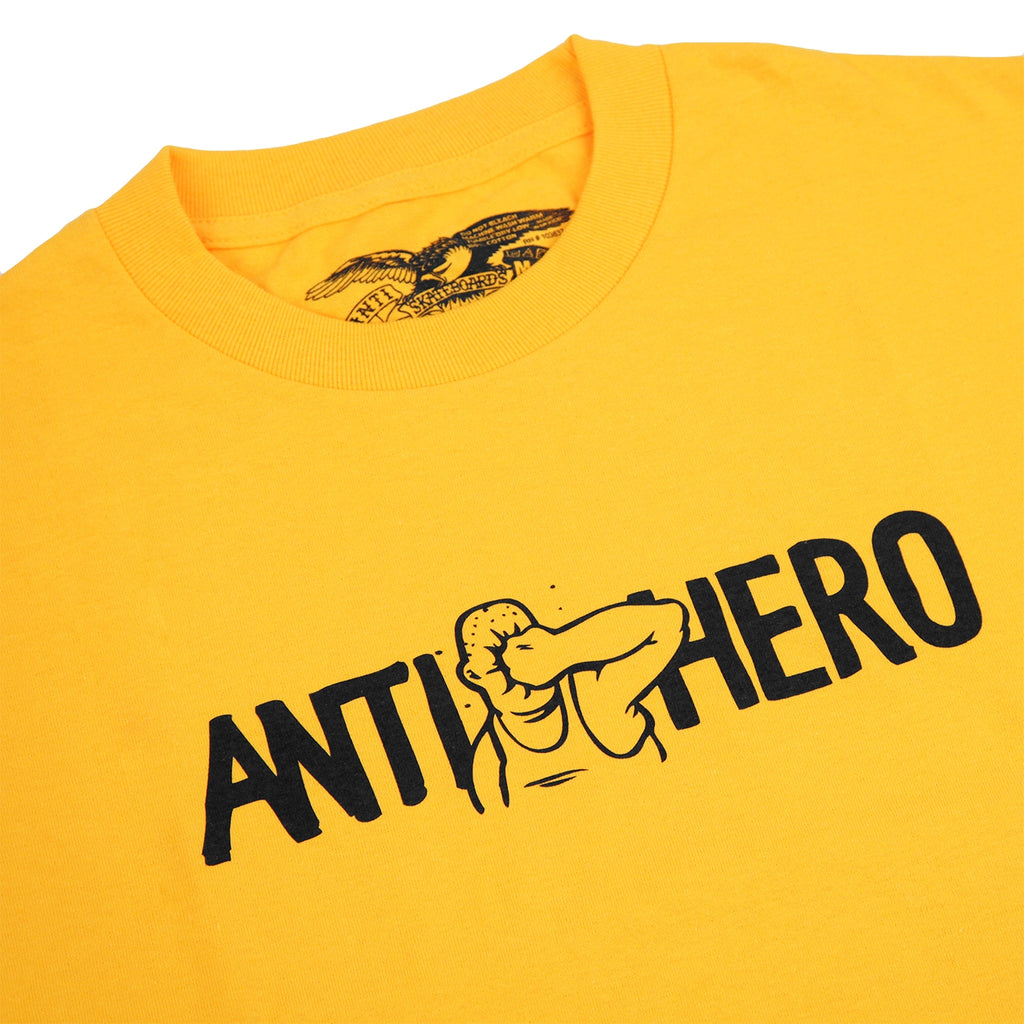 Anti Hero Skateboards Face Punch T Shirt in Gold - Detail