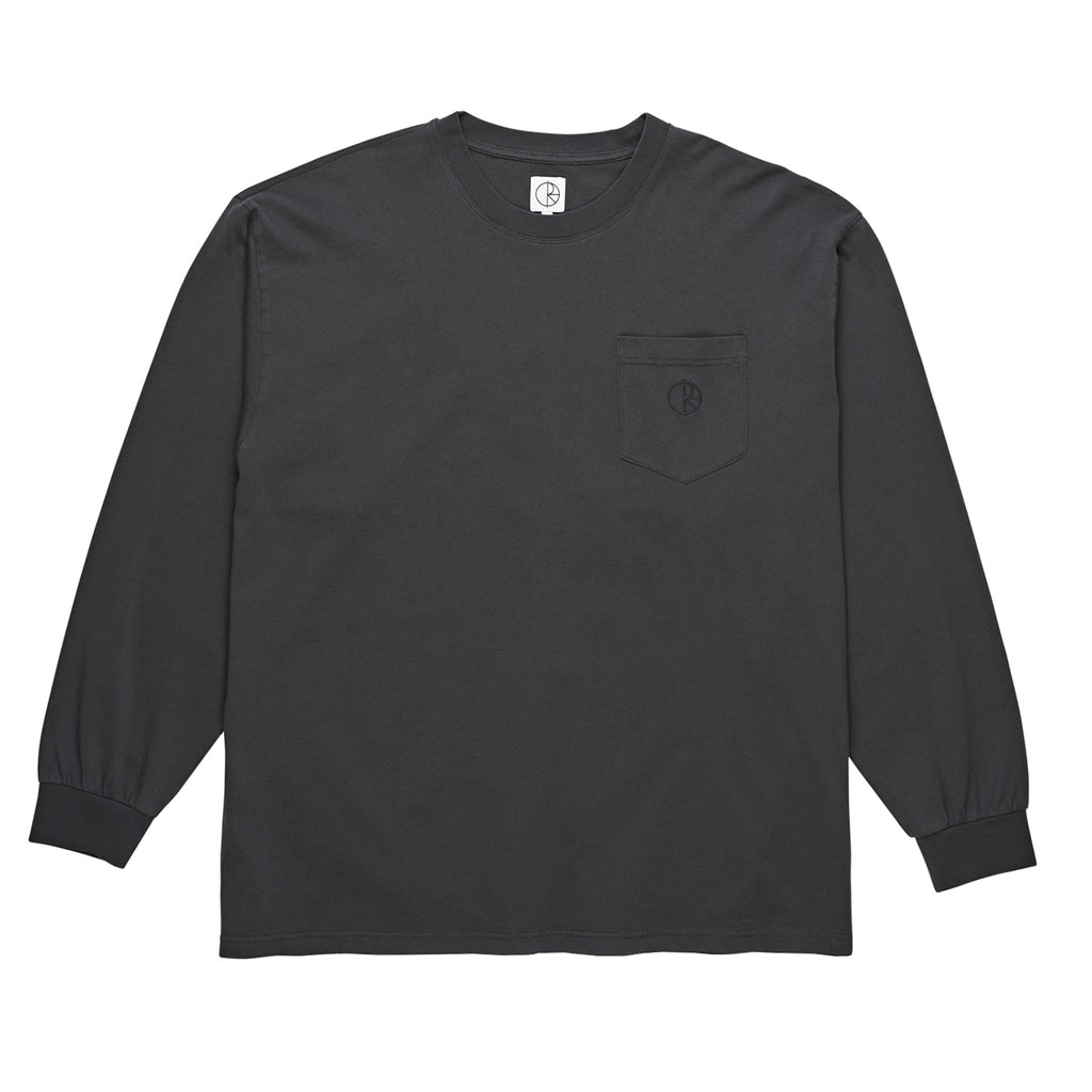 Polar Skate Co Garment Dyed Pocket L/S T Shirt in Black