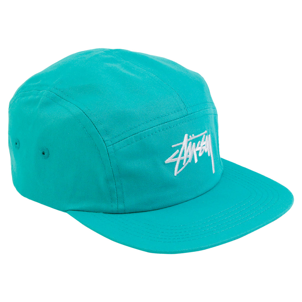 Stussy Stock 5 Panel Cap in Teal