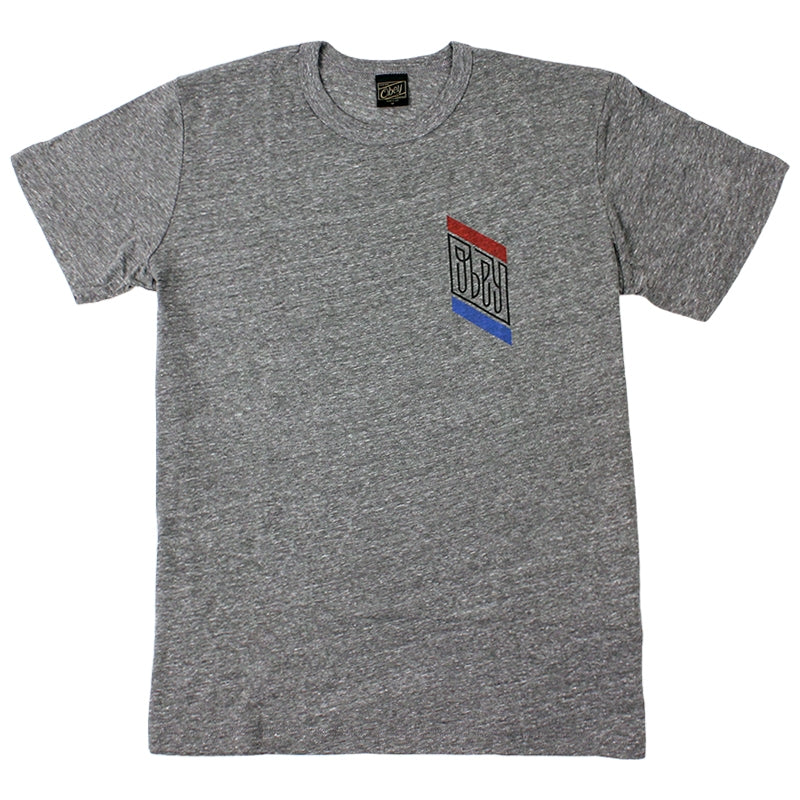 Obey Clothing Official Tri Blend T Shirt in Heather Grey