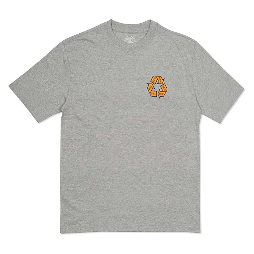 Palace P Cycle T Shirt in Grey Marl - Front