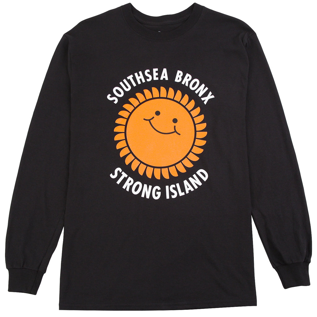 Southsea Bronx Strong Island L/S T Shirt in Black