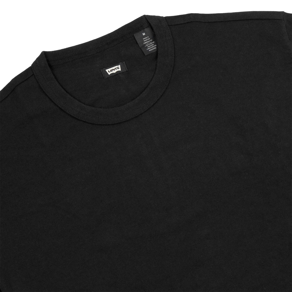 Levi's Skateboarding Collection 2 Pack T Shirt in Black / Glacier Grey Stripe - Black detail