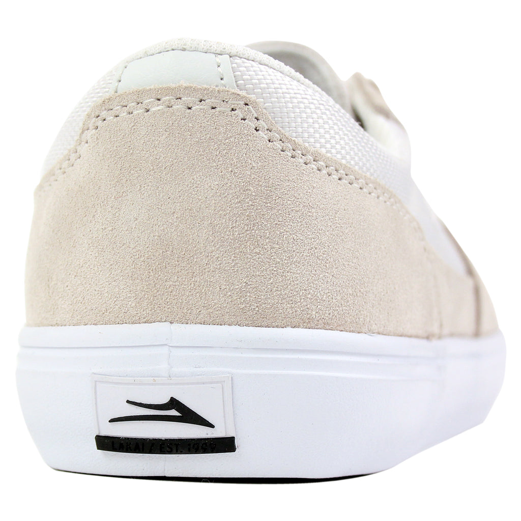 Lakai Parker Chalk Pack Shoes in White - Heel