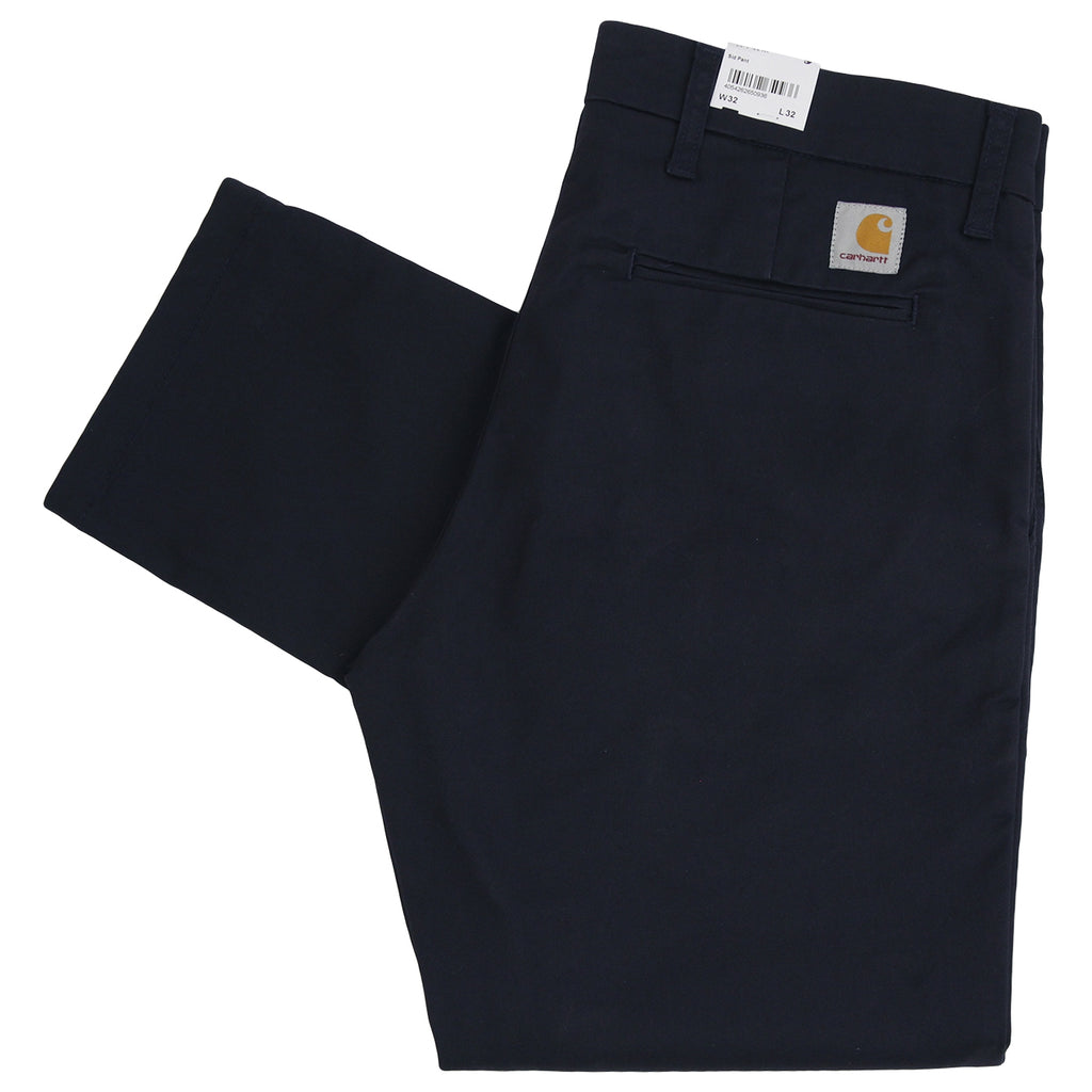Carhartt Sid Pant in Dark Navy Rinsed