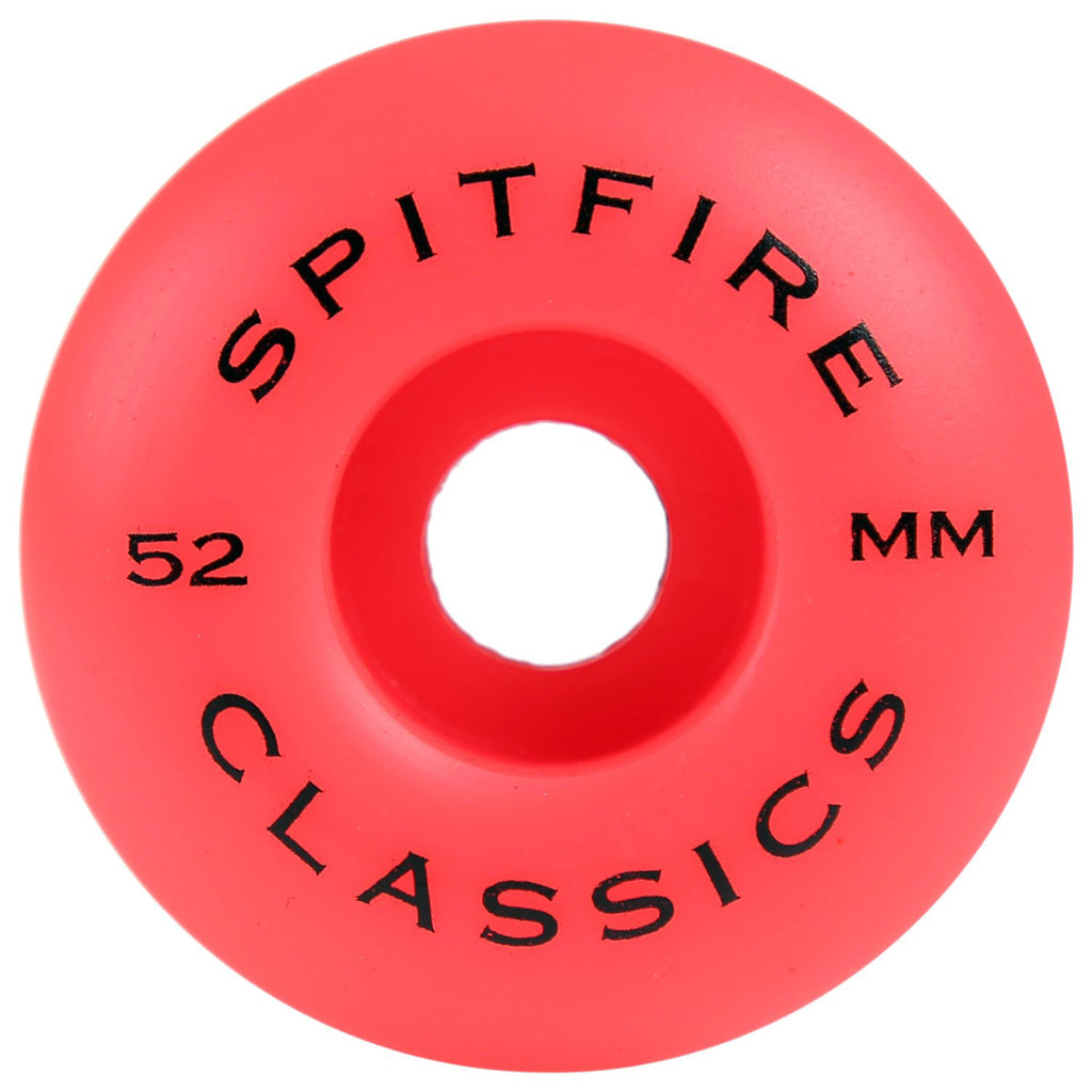 Spitfire Wheels Biohazard Classics Skateboard Wheels Rocket Red in 52mm - Back