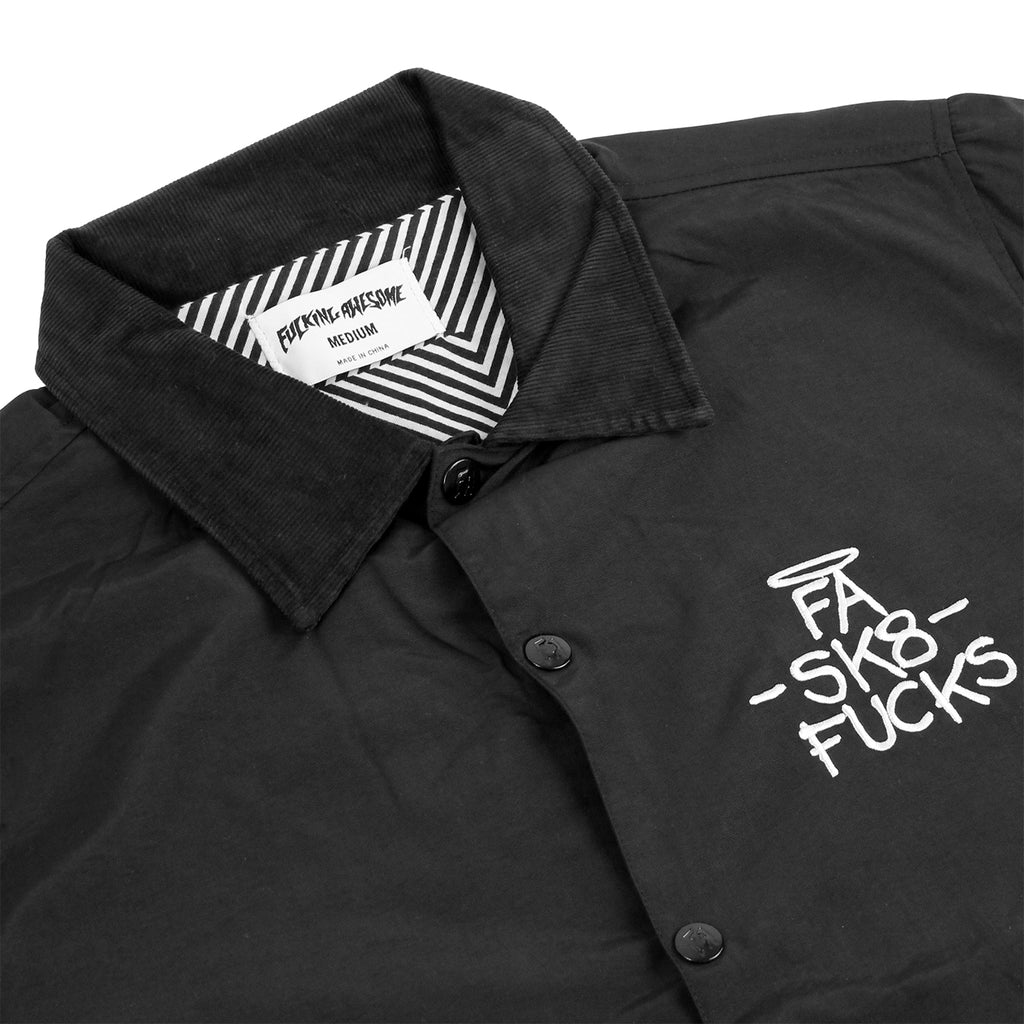 Fucking Awesome SK8 Fucks Coaches Jacket in Black - Detail