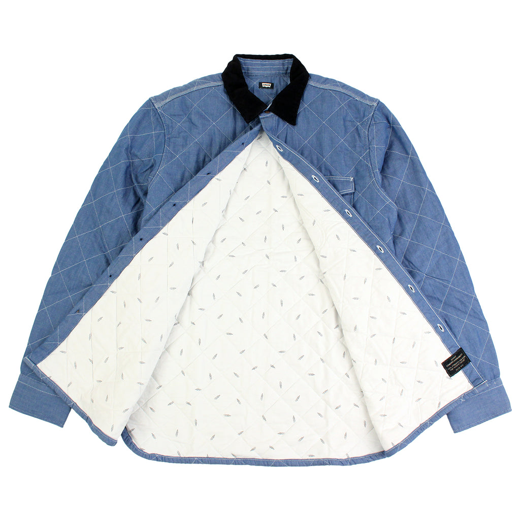 Levi's Skateboarding Collection Quilted Mason 2 Shirt in Chambray - Open