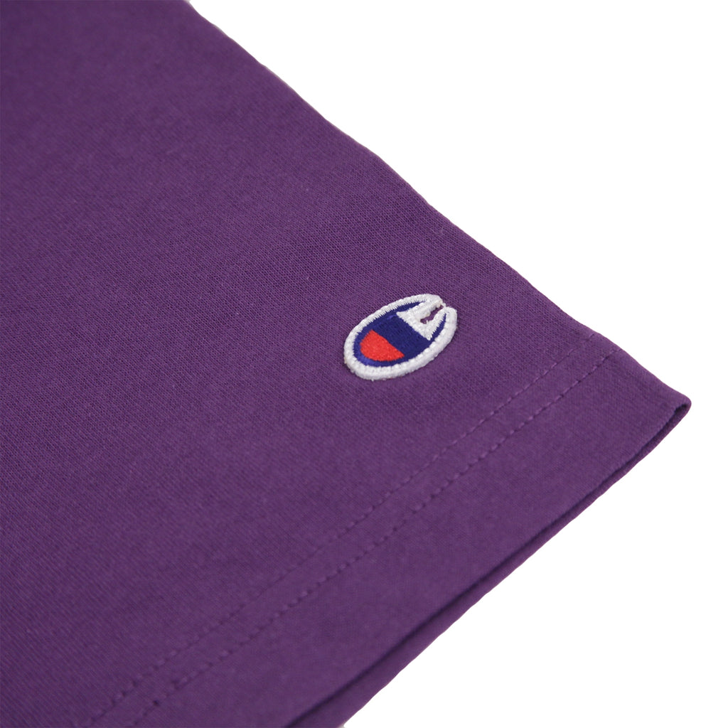 Champion Reverse Weave Classic T Shirt in Purple Violet - Patch