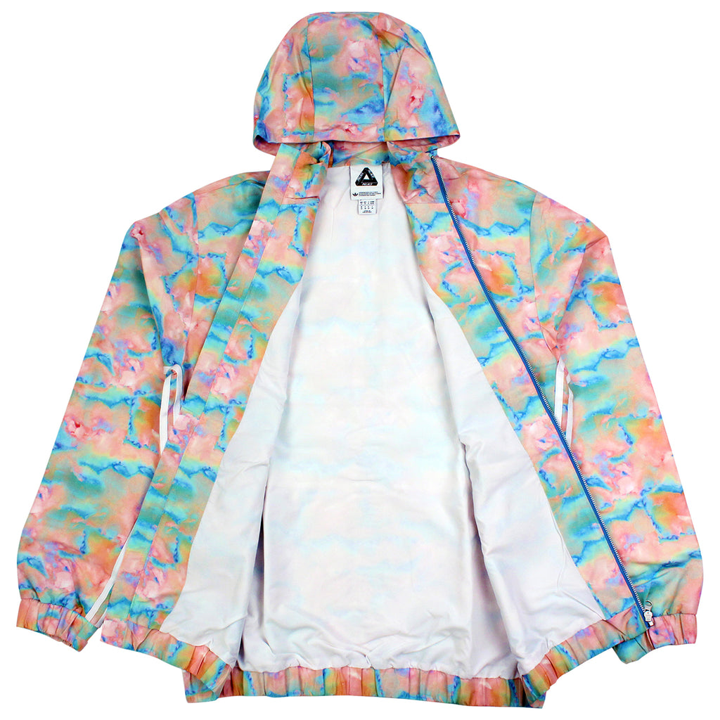 Palace x Adidas Hooded Bomber Jacket in Multi Colour / White - Open