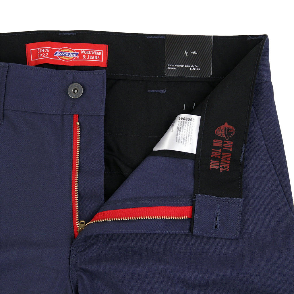 Dickies 894 Industrial Work Pant in Navy Blue - Unzipped
